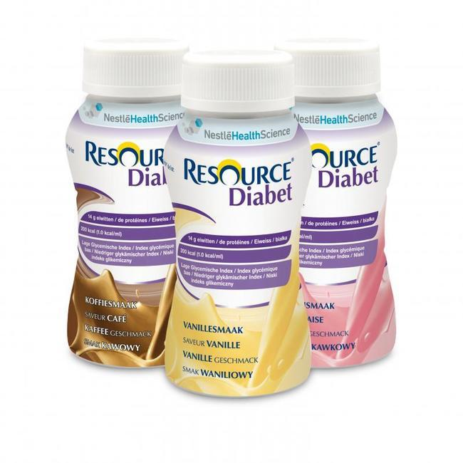 PACK DE 4 X 200 ML DE RESOURCE DIABÈTES.